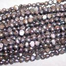 "Fresh Water NUGGET PEARLS 4-5mm SLATE 15"" Strand"