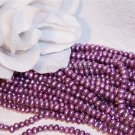 "Fresh Water Potato PEARLS 3-4mm ORCHID 16"" strand"