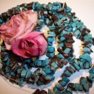 "TURQUOISE CHIPS 4-8mm 16"" strand"