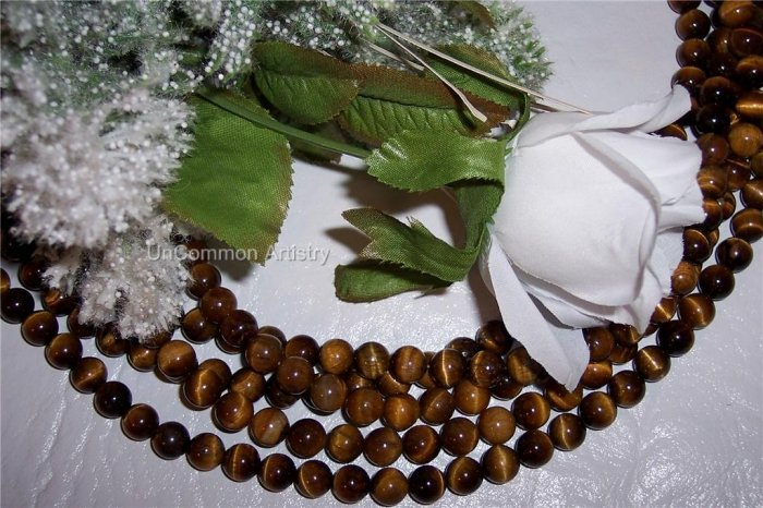 "ROARING!! TIGER EYE 6mm ROUND Beads 16"" Strand"
