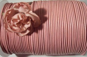 LEATHER CORD 2mm PINK 5 yards