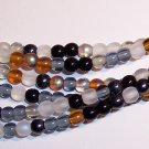 PEBBLESTONE MIX Czech DRUK  4mm Beads 100
