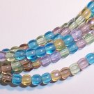 PRAIRIE MIX Czech DRUK  4mm Beads 100