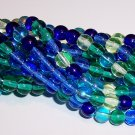 LAGOON MIX Czech DRUK  6mm Beads q.50