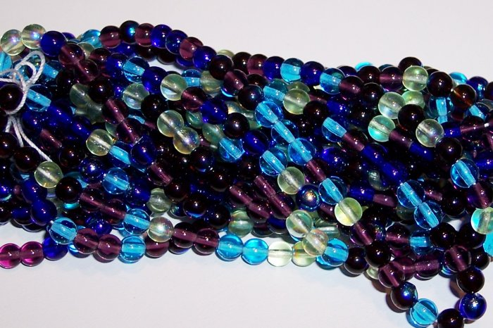 GEMTONES MIX Czech DRUK  4mm Beads 100