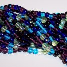 GEMTONES MIX Czech DRUK  6mm Beads 50