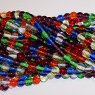 RAINBOW MIX Czech  8mm DRUK Beads 50
