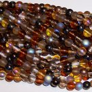 WHEATBERRY MIX Czech  8mm DRUK Beads 50
