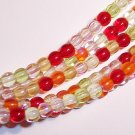 TANGO MIX Czech  4mm DRUK Beads 100