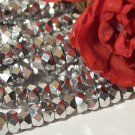 SILVER  Fire Polish 6x3mm Faceted Rondelles q.25