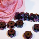 IRIS PURPLE Fire Polish 6x3mm Faceted Rondelles q.25