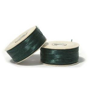 NYMO Nylon Beading Thread SIZE B EVERGREEN 72 yards