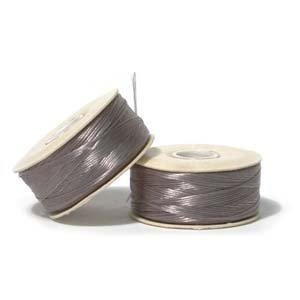 NYMO Nylon Beading Thread SIZE B GREY 72 yards