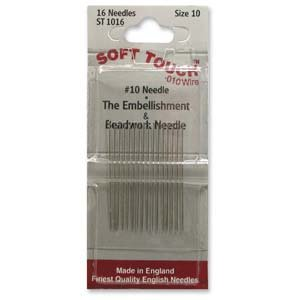 SOFT TOUCH Beading Needles Size  #10 (.010) 16 pack