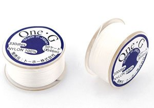 ToHo ONE-G Nylon Thread WHITE 50 yards
