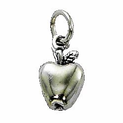APPLE CHARM - STERLING SILVER