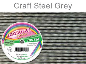 "SOFT FLEX EconoFlex Beading Wire 010"" 30 Ft  STEEL GREY"