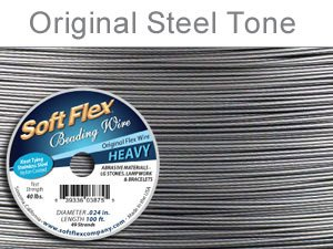 Soft Flex 49 Strand Best Beading Wire .024 Inch 30 Ft.