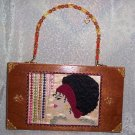 RETRO DESIGN SEVENTIES LADY ON A CIGAR BOX PURSE