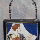 RETRO SIXTIES DESIGN LADY ON A CIGAR BOX PURSE