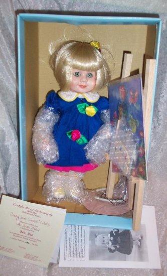 """12"""" PORCELAIN BETTY JANE CARTER DOLL~~THE LITTLE ARTIST"""