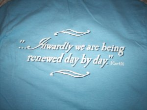 "LIGHT BLUE ""AGED TO PERFECTION"" CHRISTIAN T-SHIRT~SMALL"