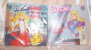 MIXED LOT OF BARBIE BOOKS, RECORD AND MUCH MORE
