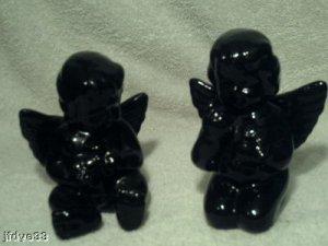Solid Black Ceramic Angels