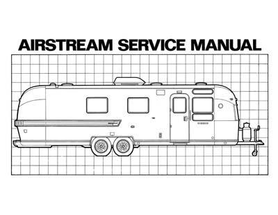 1972 Airstream Trailer Manual Combo All Models