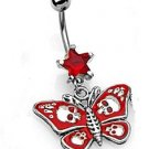 GOTHIC RED BUTTERFLY