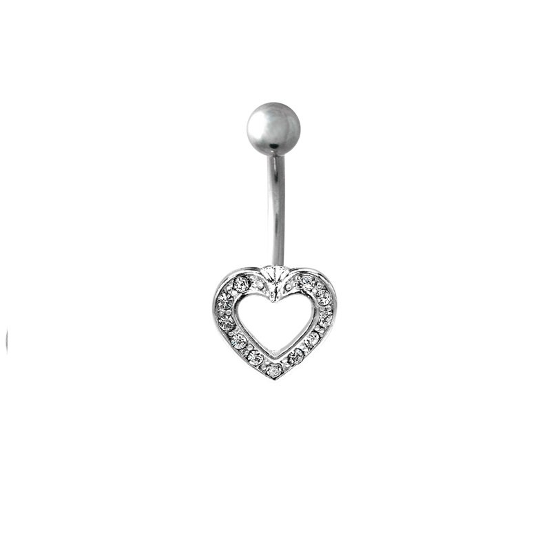 PAVED HEART w/ CLEAR GEMS