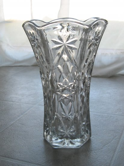 Early American Prescut (EAPC) Glass Vase- Star of David