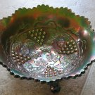 1920's Fenton Grape and Cable Carnival Glass Bowl