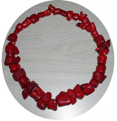 RED CHUNK CORAL NECKLACE CCN14536