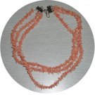 PINK CORAL STICK 3 STRAND NECKLACE CSN44536