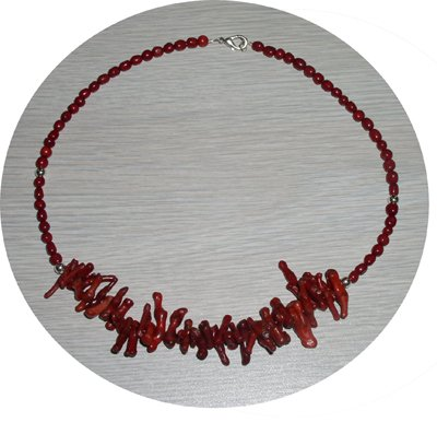 RED CORAL STICKS & BEADED NECKLACE CSN74032