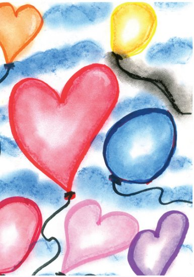 HEARTS & BALLOONS CARDS 4.25 x 5.5