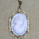 Vintage Beautiful Victorian Cameo in Gold Pendant