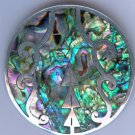 Taxco Mexican Silver Brooch with inlaid Abalone