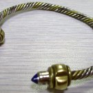 Vintage Two toned silver weave cuff bracelet