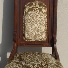 VICTORIAN OAK WOOD SPOON CARVED EASTLAKE HIGHBACK QUEEN CHURCH CHAIR: