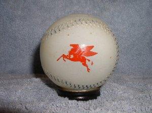 1950s Heffelfinger Glass Baseball Metal Cap Coin Bank