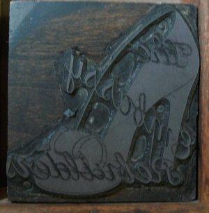 Vintage Embassy Shoe Printers Block