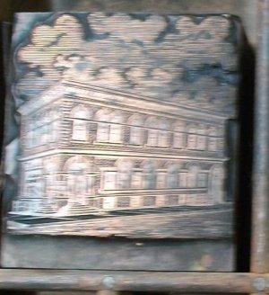 Vintage Iola Printers Block