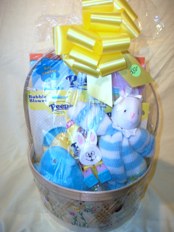 Peeps Chick Filled Gift  Basket