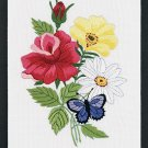 Butterfly & Floral embroidery kit