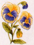 Pansy Mini embroidery kit