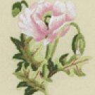 Oriental White Poppy Mini embroidery kit
