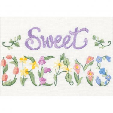 Flowery Sweet Dreams embroidery kit