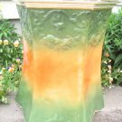ANTIQUE WHEELING POTTERY MAJOLICA PEDESTAL PLANTER PLANT STAND